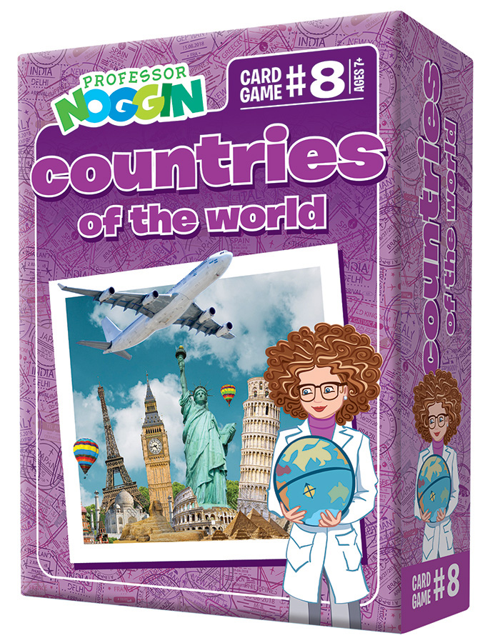 Professor Noggin Countries of the World kids card game 2020
