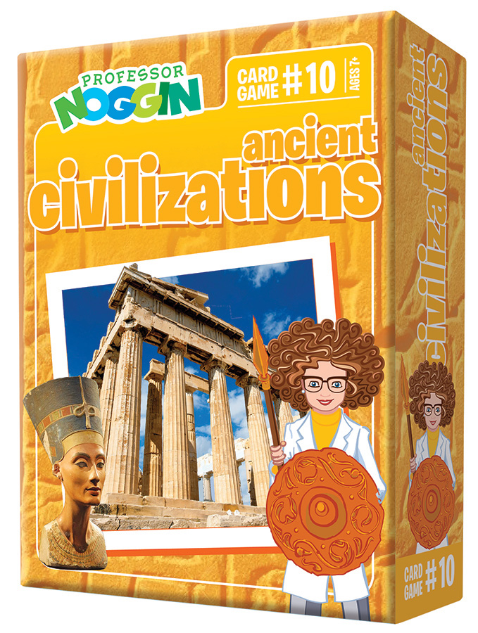 Professor Noggin Ancient Civilizations kids card game 2020