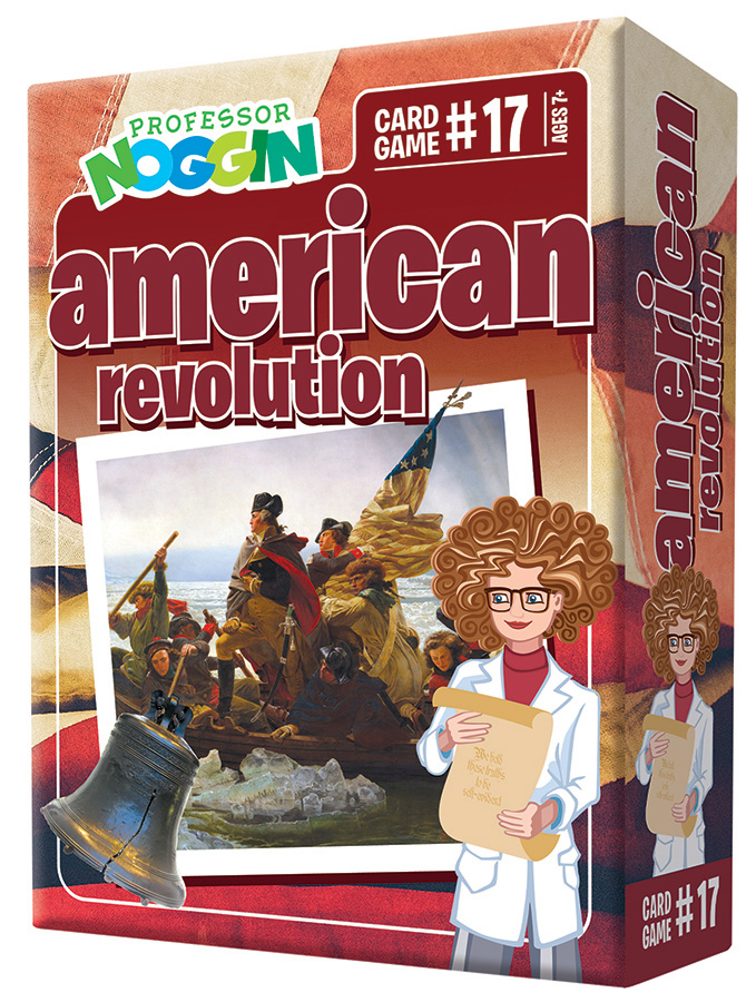 Professor Noggin American Revolution kids card game 2020