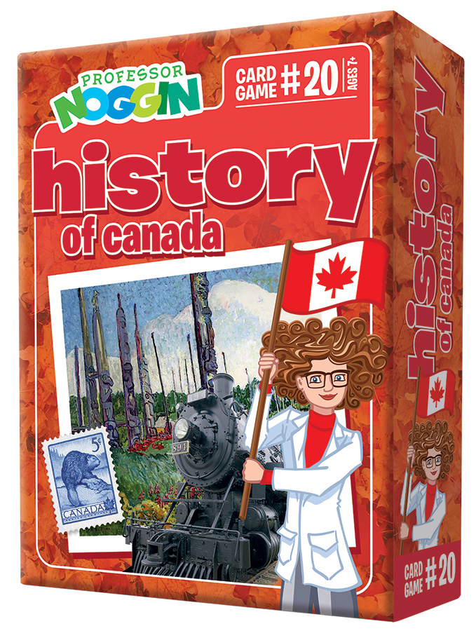 Professor Noggin History of Canada kids card game 2020