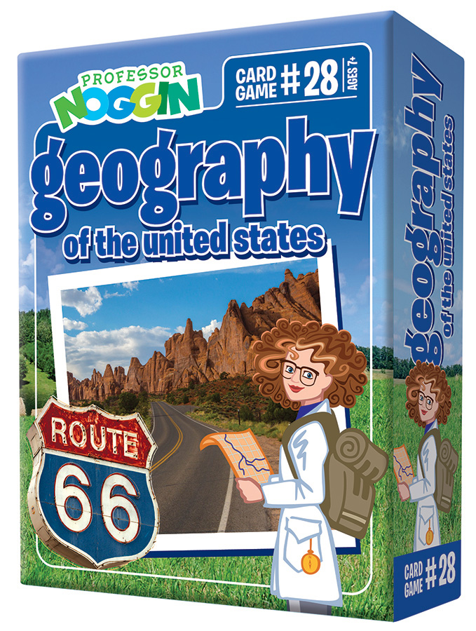 Professor Noggin Geography of the United States kids card game 2020