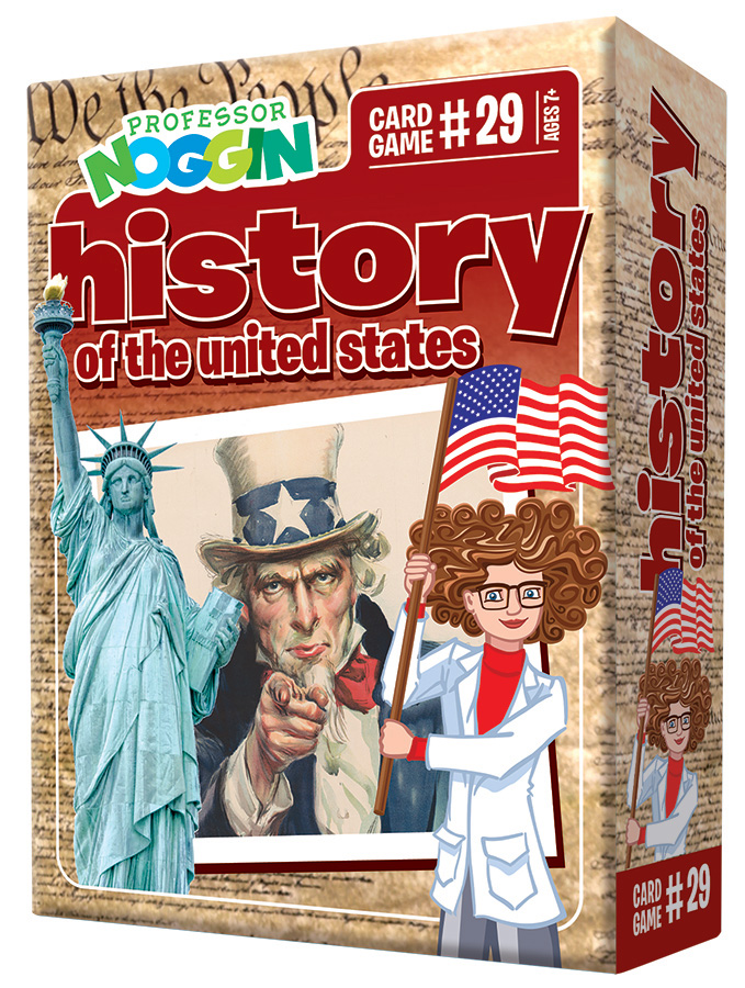 Professor Noggin History of the United States kids card game 2020