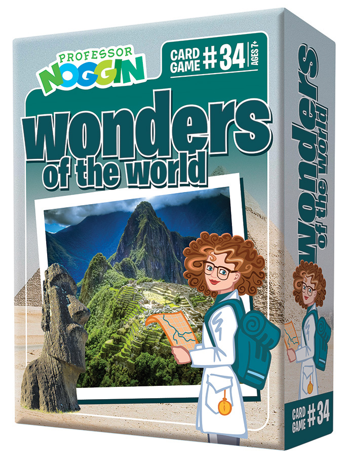 Professor Noggin Wonders of the World kids card game 2020
