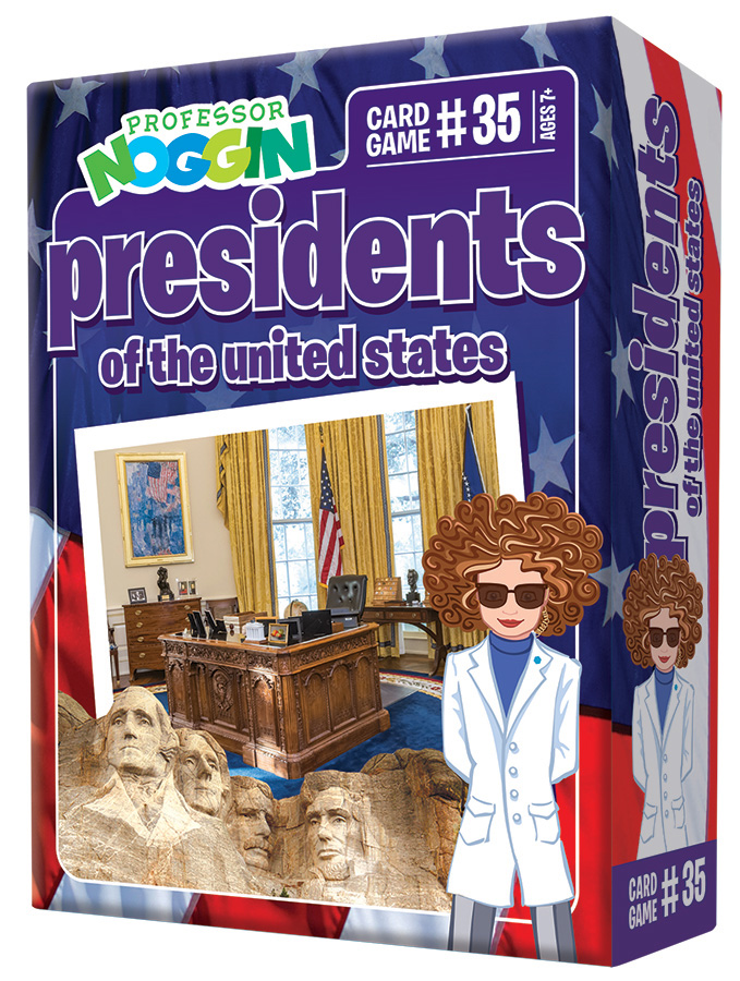 Professor Noggin Presidents of the United States kids card game 2020 new