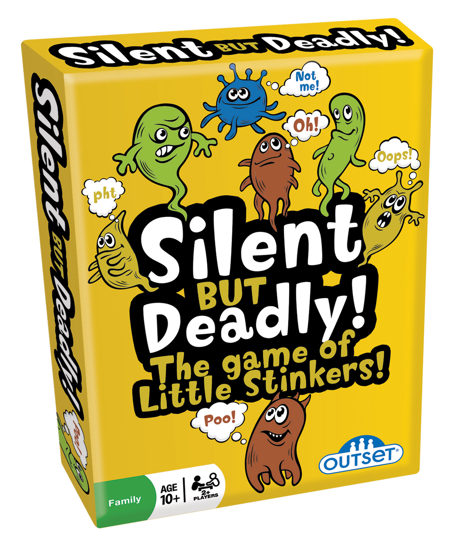 Silent But Deadly box card game by Outset Media