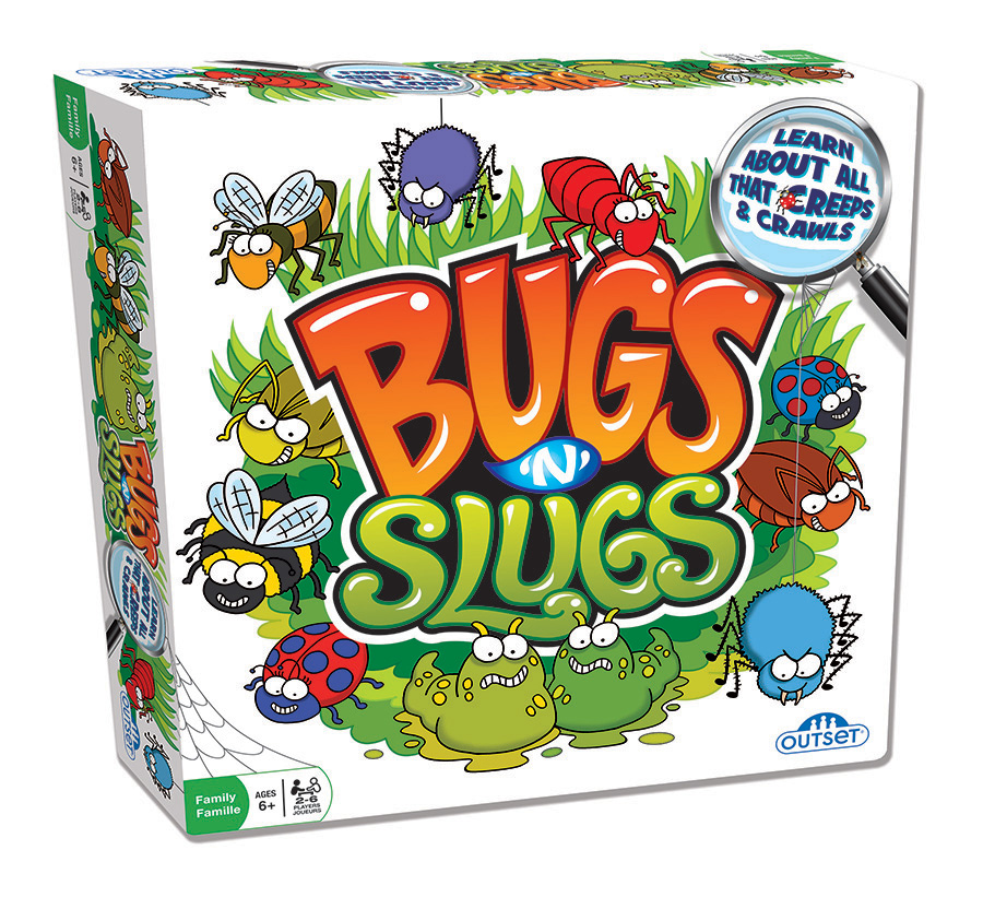 Bugs n Slugs board game for kids and family by Outset Media