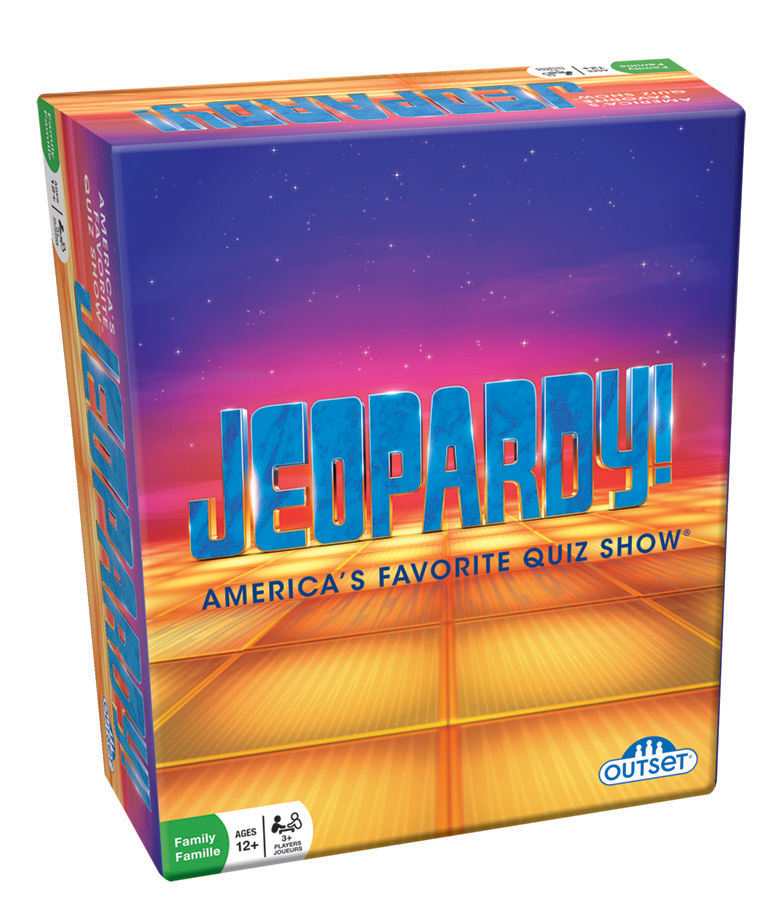 Jeopardy Travel MM Edition card game by Outset Media