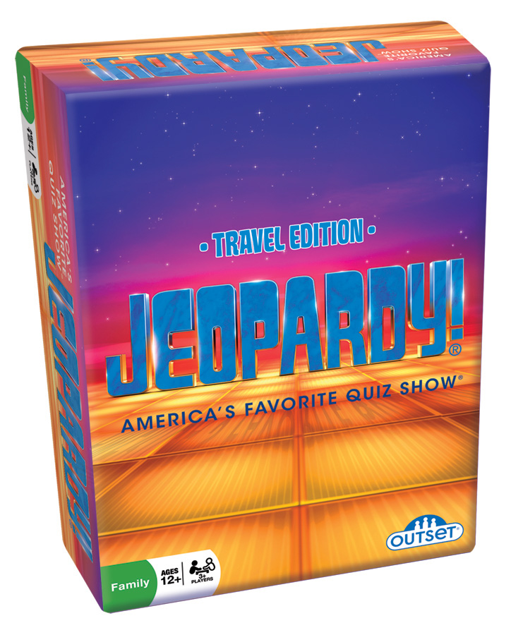 Jeopardy Travel Edition card game by Outset Media