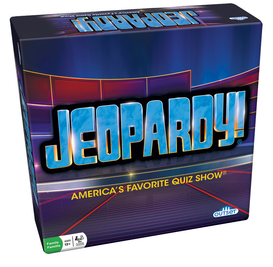 Jeopardy board game by Outset Media