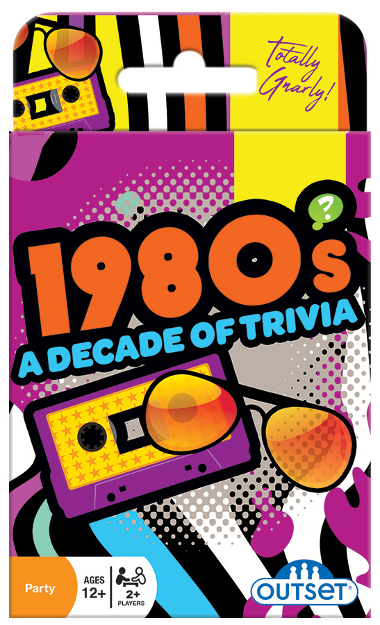 1980's A Decade of Trivia card game by Outset Media