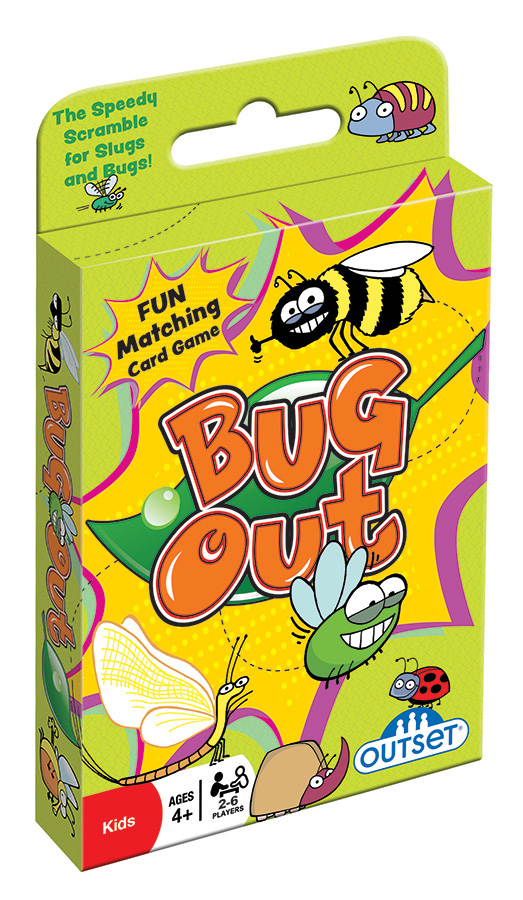 Bug Out (hang tab) card game by Outset