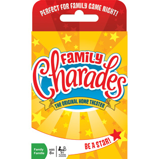 Family Charades card game for kids and adults