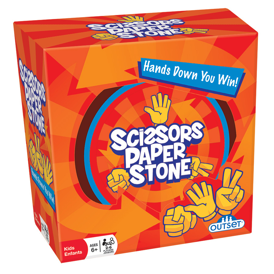 Scissors Paper Stone (Tin) card game by Outset Media