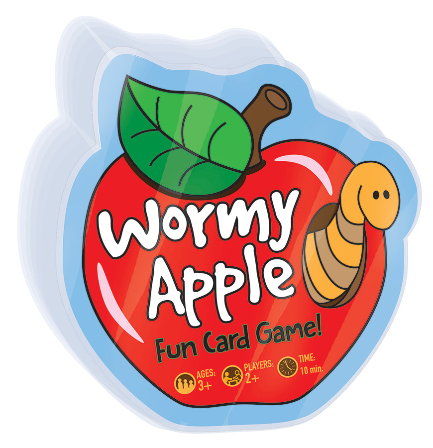 Wormy Apple card game by Outset Media