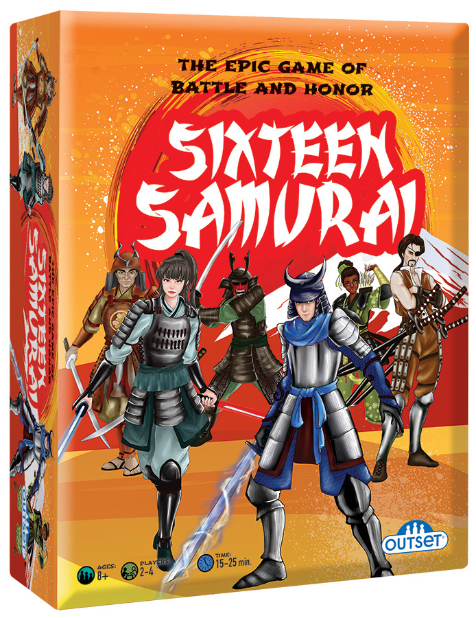 Sixteen Samurai card game for ages 8+