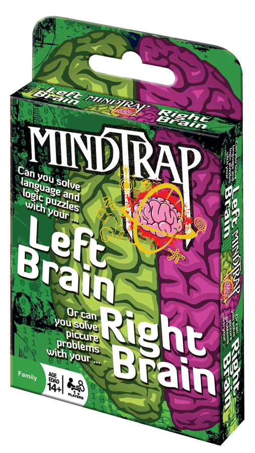 MindTrap® Left Brain Right Brain card game brain puzzles
