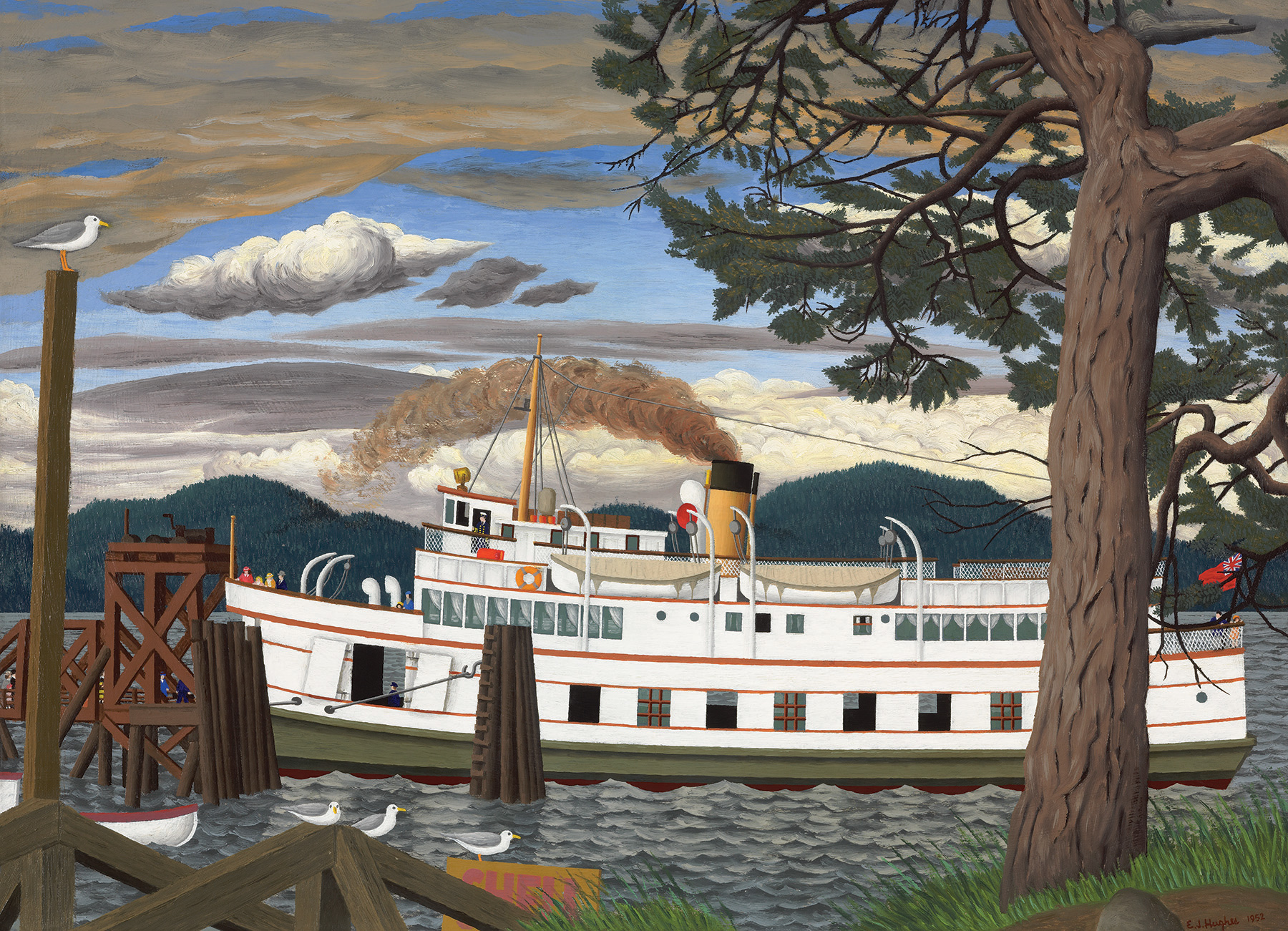 The Car Ferry at Sidney BC - 1000 piece - Cobble Hill Puzzle Co - E.J. Hughes