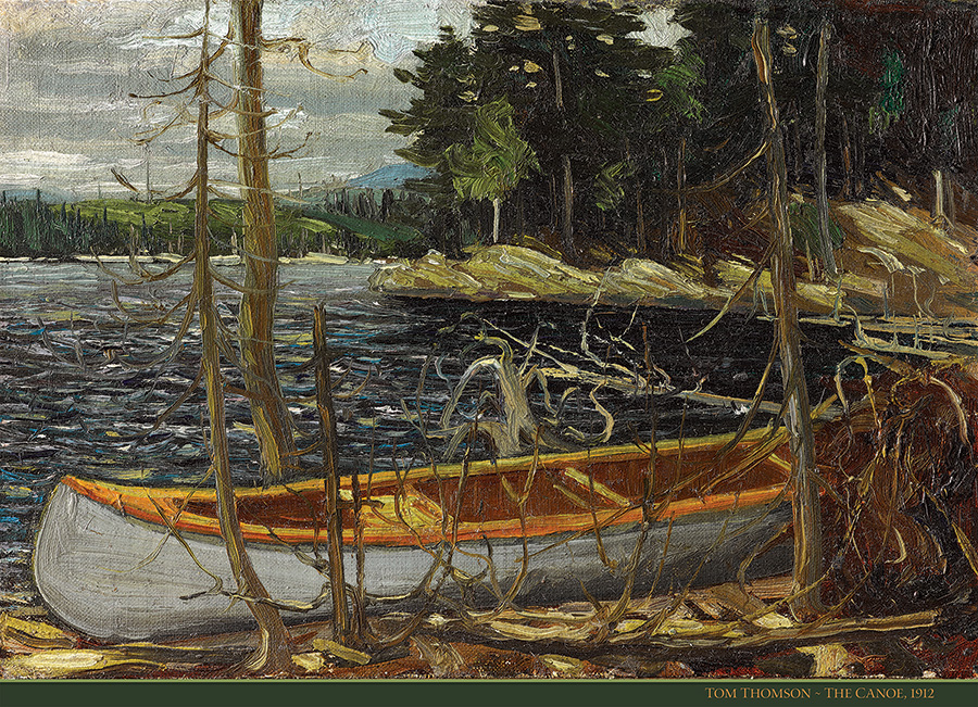 The Canoe 1000 piece Tom Thomson puzzle by Cobble Hill