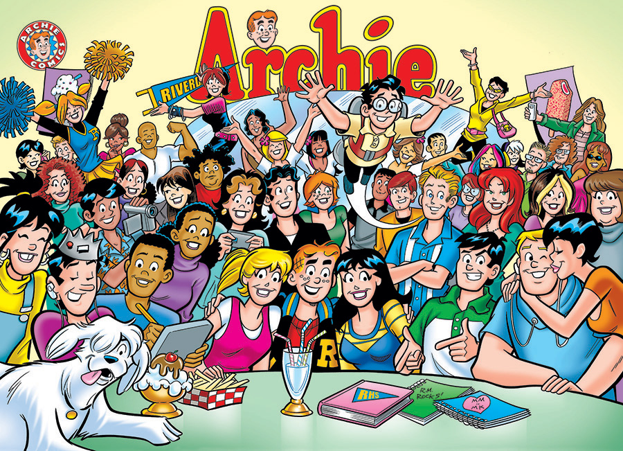 The Gang At Pops - Archie Comics Puzzles by Cobble Hill Puzzle Co