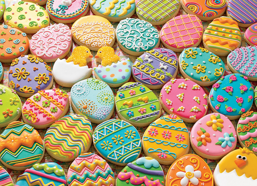 Easter Cookies Family Piece 350 puzzle by Cobble Hill