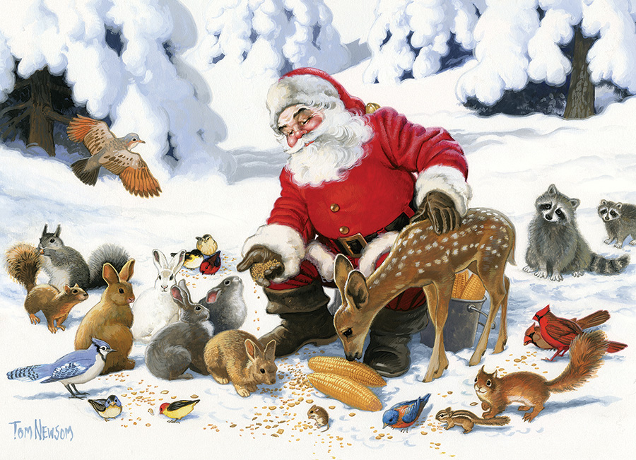 Santa Claus and Friends Family 350 puzzle by Cobble Hill