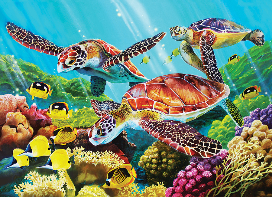 Molokini Current 350 Family Piece puzzle by Cobble Hill