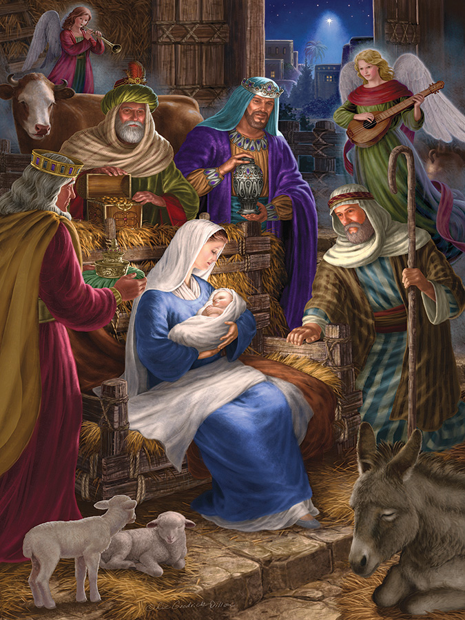 Holy Night 350 Family Piece puzzle by Cobble Hill