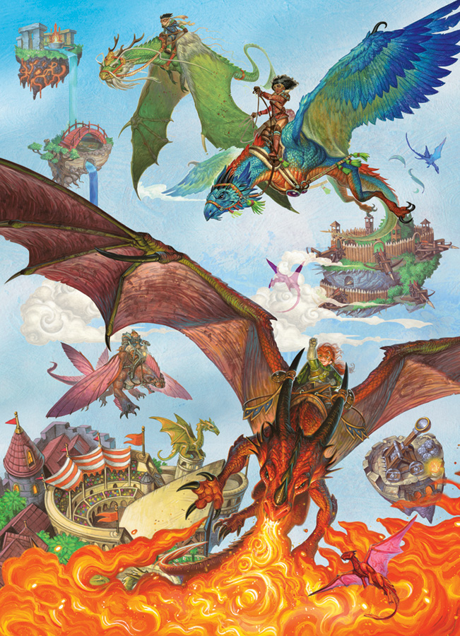 Dragon Flight (Family) 350 piece - Cobble Hill Puzzle Co - fantasy puzzle