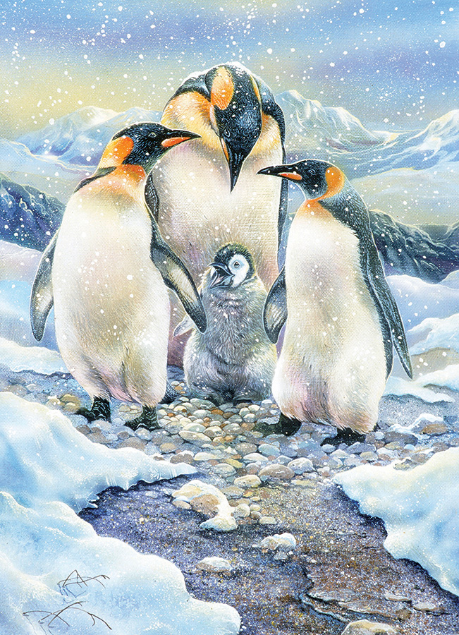 Penguin Family (Family) Family Pieces 350 puzzle by Cobble Hill