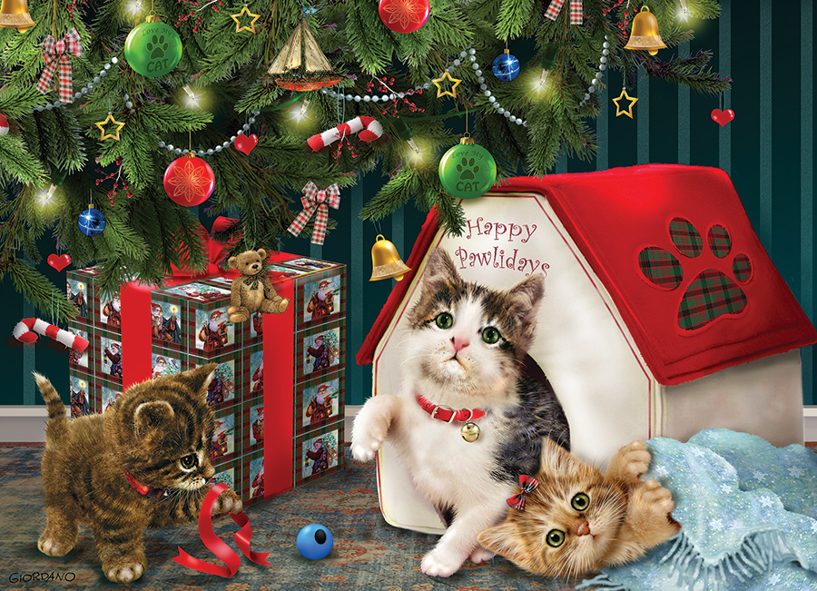 Happy Pawlidays (Family) Family Pieces 350 puzzle by Cobble Hill