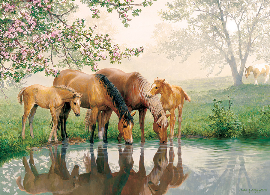 Horse Family (Family) 350 piece - Cobble Hill - winter puzzle