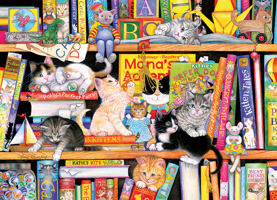Storytime Kittens (Family) 350 piece - Cobble Hill - winter puzzle