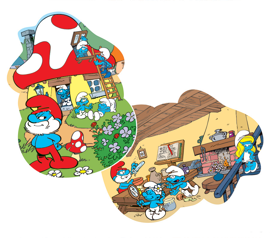 Papa's House - Smurfs puzzles by Cobble Hill Puzzle Co