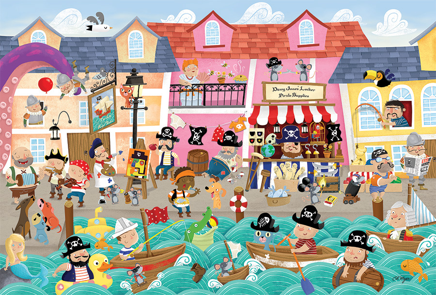 Pirates on Vacation by Cobble Hill Puzzle Co