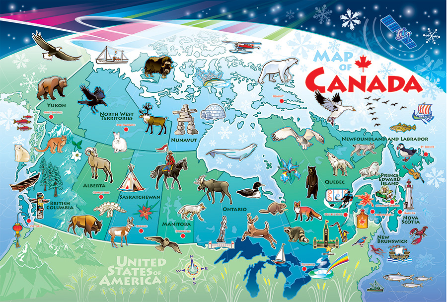 Map of Canada by Cobble Hill Puzzle Co