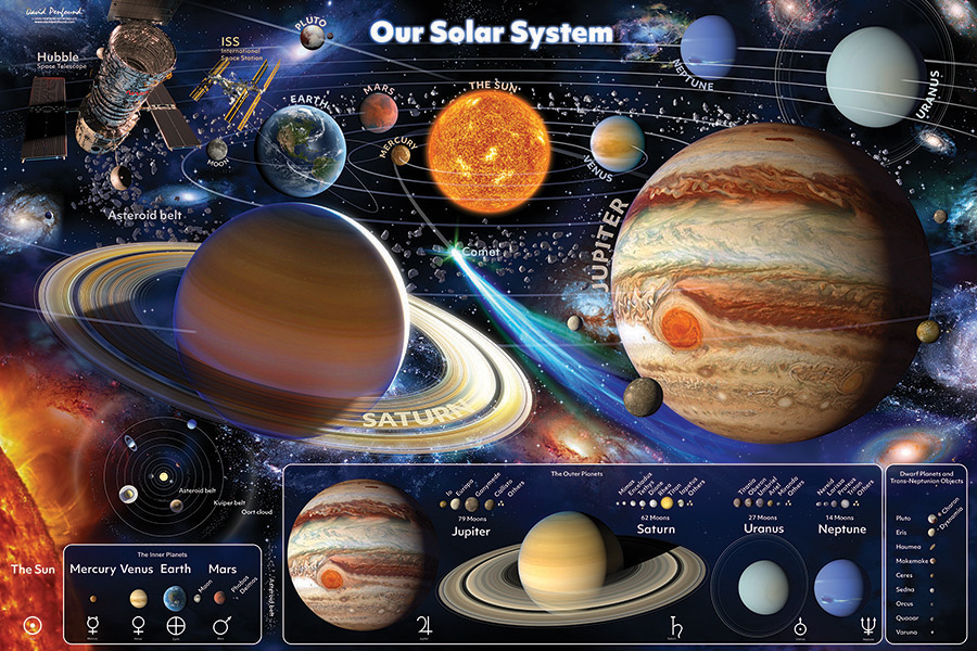 Our Solar System 48 piece Floor Puzzle by Cobble Hill