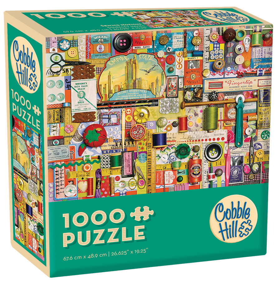 Sewing Notions 1000 piece package - Cobble Hill Modular Puzzles