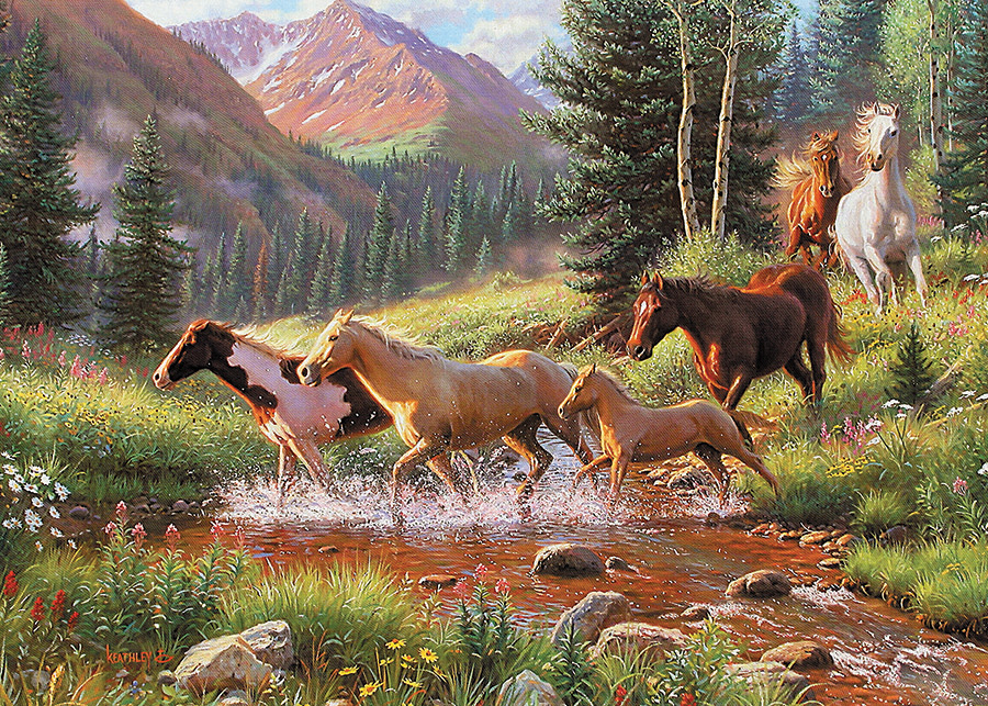 Horse Stream tray puzzle by Cobble Hill