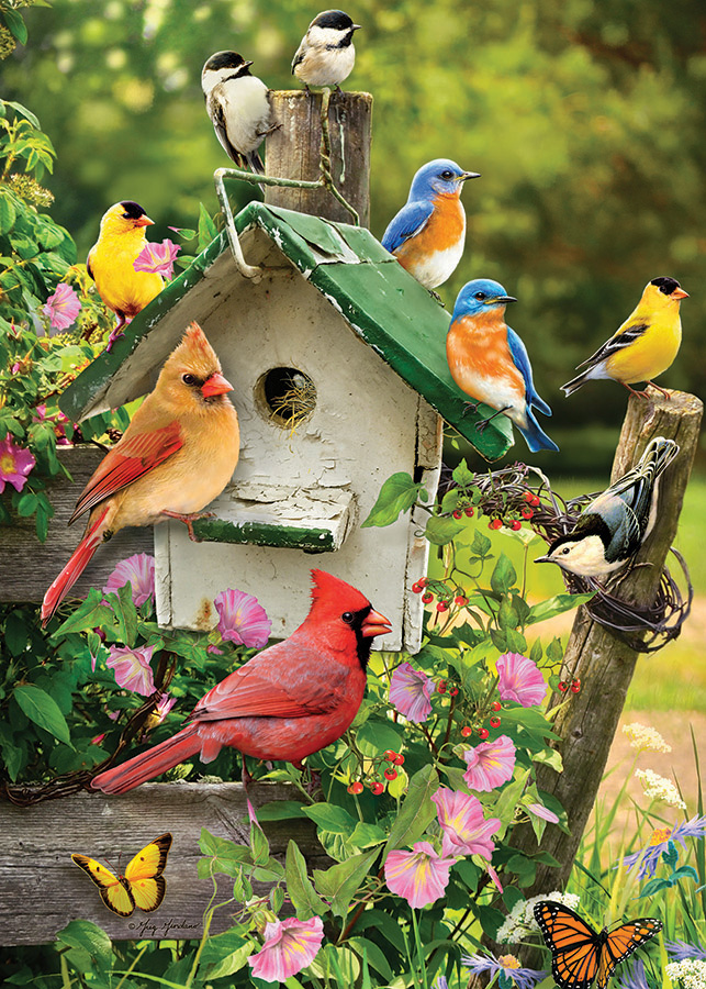 Singing Around the Birdhouse Tray Puzzle by Cobble Hill Puzzle Co