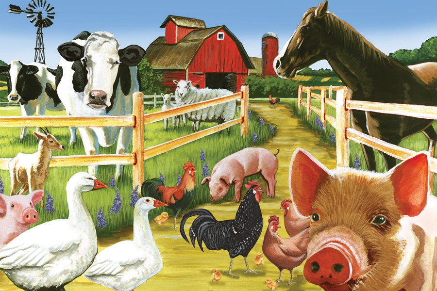 Farmyard Welcome - Tray Puzzle