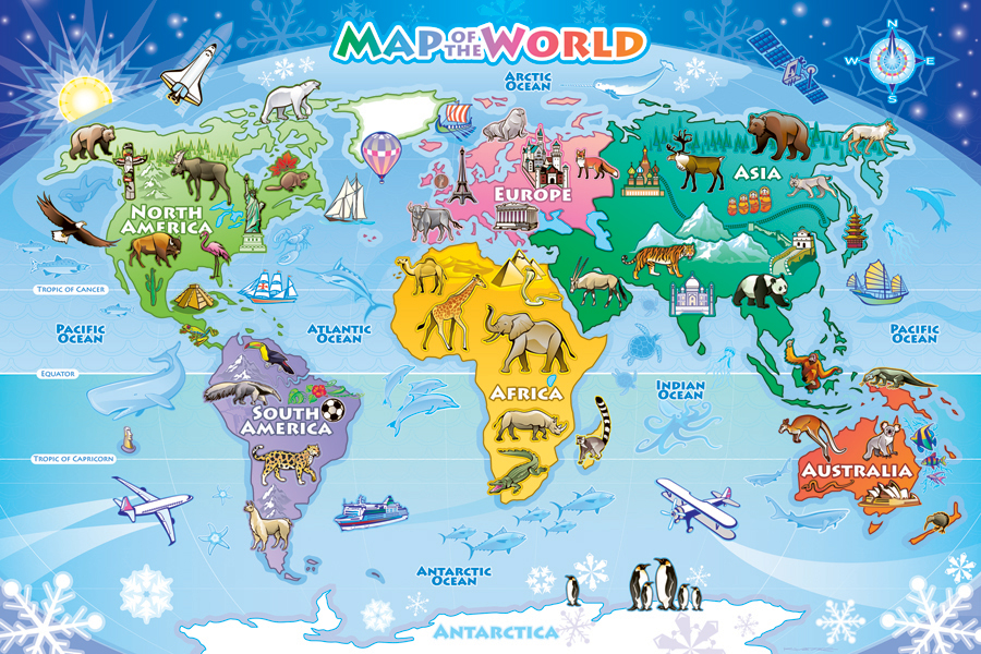 World Map - Tray Puzzle