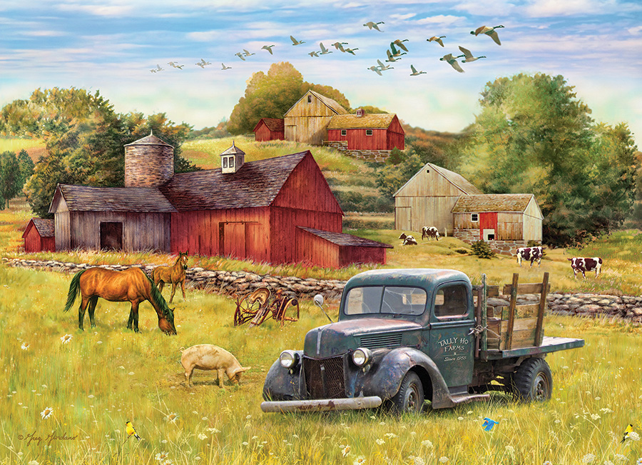 Summer Afternoon on the Farm 1000 piece Cobble Hill puzzle