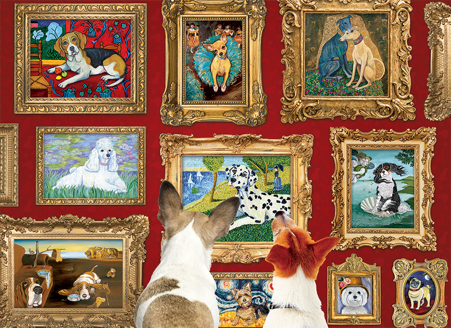 Dog Gallery Cobble Hill Puzzle Co - 1000 piece