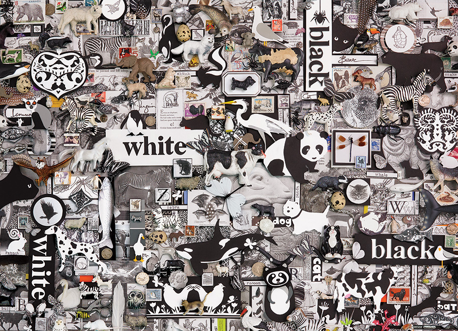 Black & White: Animals 1000 piece Cobble Hill puzzle