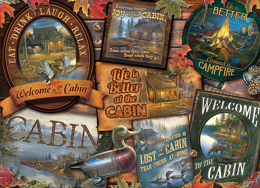 Cabin Signs Cobble Hill Puzzle Co - 1000 piece