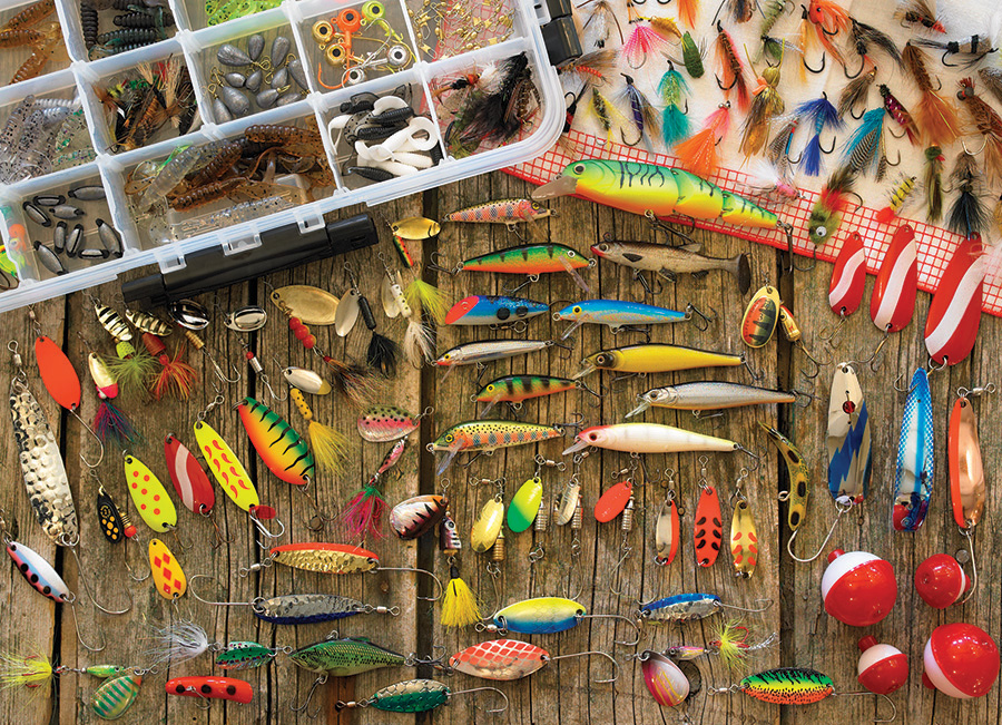 Best Sellers Puzzles | Fishing Lures | 1000 piece by Cobble Hill Puzzles