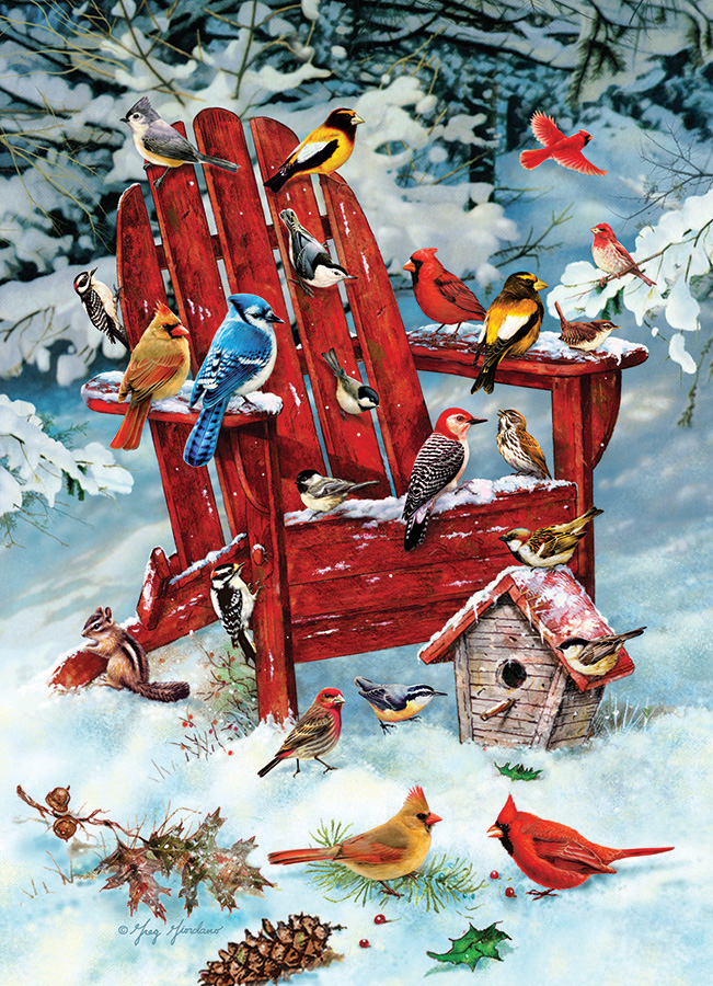 Adirondack Birds jigsaw | 1000 pieces | Cobble Hill winter puzzle