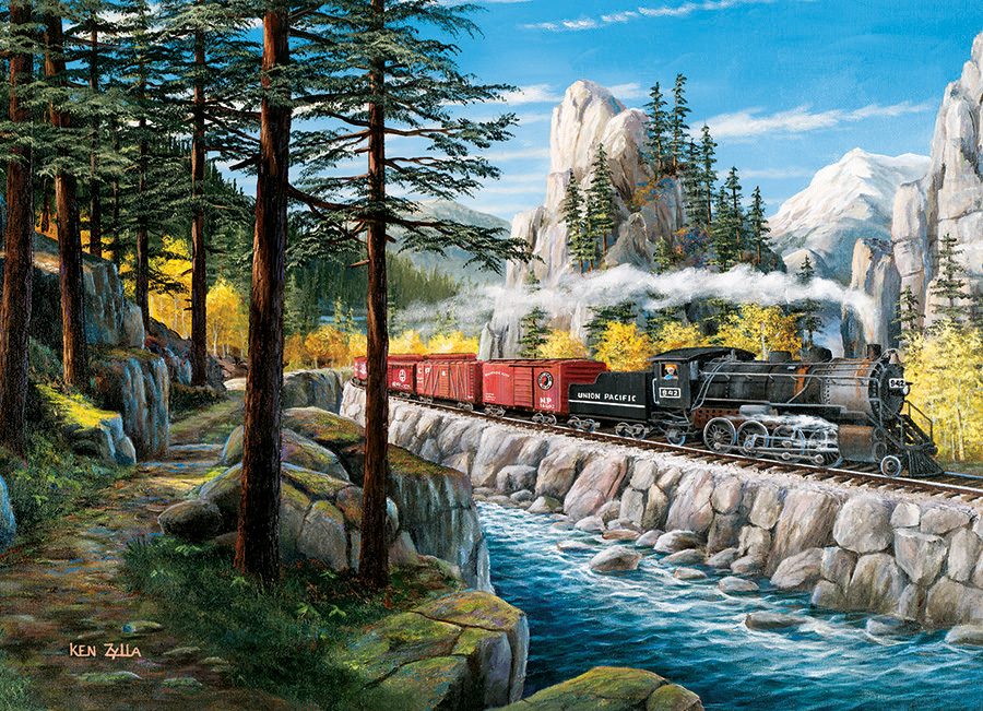 Rounding the Horn jigsaw | 1000 pieces | Cobble Hill train puzzle