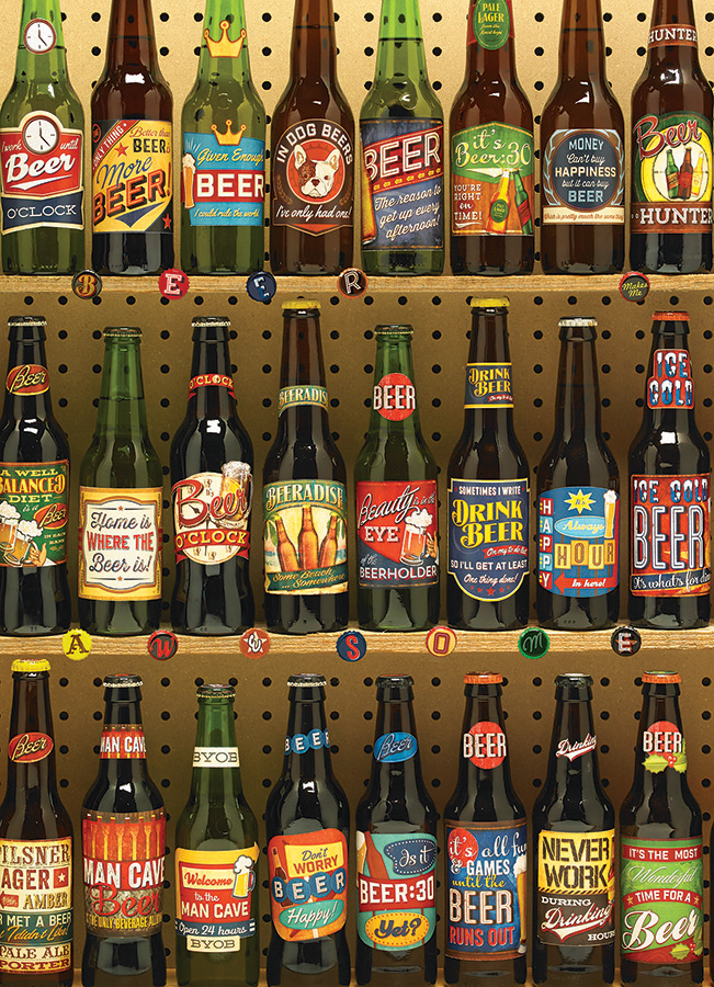 Beer Collection - 1000 pc Cobble Hill Puzzle Co - photo puzzle