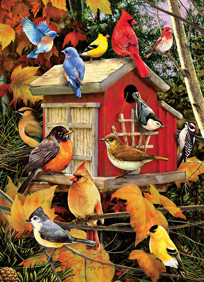 Fall Birds - Cobble Hill Puzzle Co - 1000 piece puzzle - birds in autumn